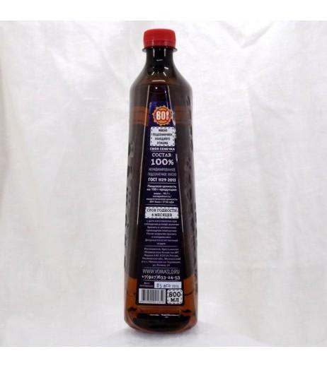 Масло Якушев особое подсолнечное холодного отжима нерафинированное 800 мл