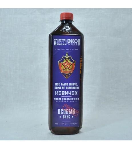 Масло Новичок особое подсолнечное холодного отжима нерафинированное 800 мл